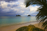 lanikai beach on the windward side of oahu in late afternoon poster
