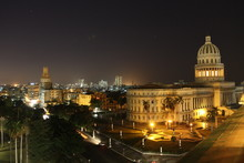 Vues de nuit. La Havane. Cuba