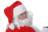 Pleasant man in Santa suit poster