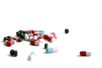 Pills shattered