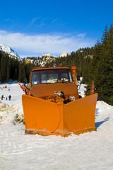 Italian Mountain Snow Background