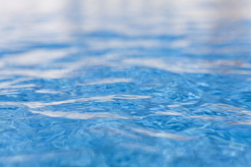 Close up of shimmering water in swimming pool