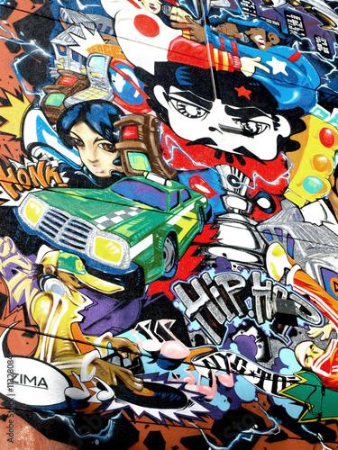 Fototapete Graffiti - Fresko - Graffiti
