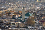 View of the Kairaouine Mosque from above, Fes Morocco poster