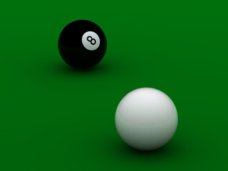 black and white pool balls