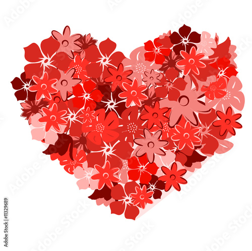 Floral heart. Vector illllustration
