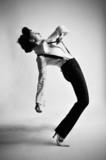black and white dancer