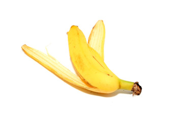 Empty yellow banana peel