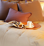Cozy bedroom interior design poster