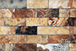 Wall of marble brick-1