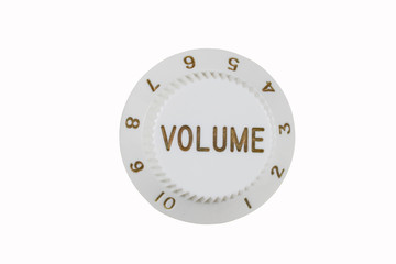 Guitar volume knob, isolated on white