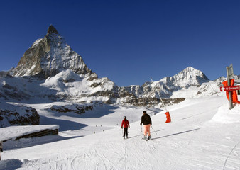 Alpine skiing under Matterhorn