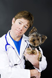 veterinarian and dog poster