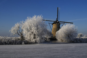 Winter season in The Netherlands