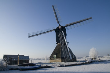 Windmill with barn