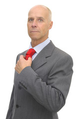Businessman isolated against a white background