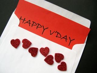 A  Valentine greeting card