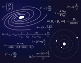 Galaxy and planets poster