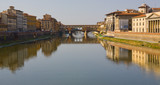 Bridge and Buildings along the Arno River poster