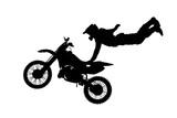 Fototapety isolated motorbike jump on the white