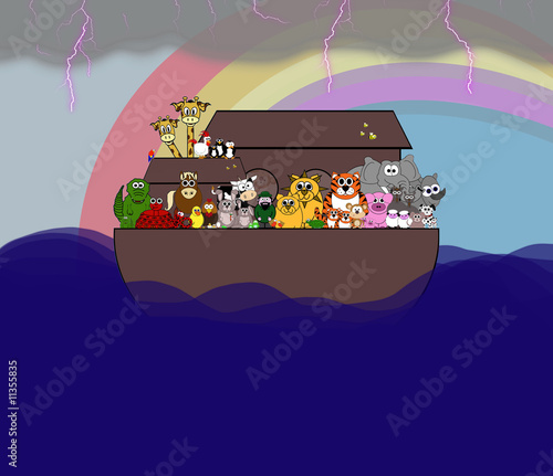 Noah's Ark Scene - The Great Flood