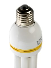 Electrical fluorescent energy-saving lamp at white