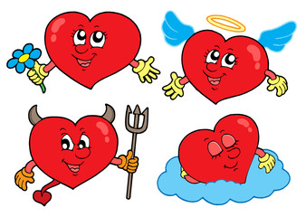 Cartoon hearts collection