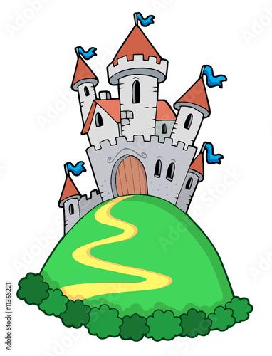 Foto op Aluminium Kasteel Fairy tale castle