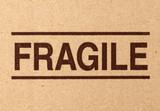 fragile symbol on cardboard poster