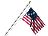 Isolated American Flag - 11365476
