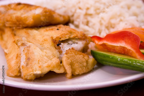 Fried fish with rice