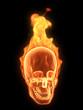 brennender menschlicher schädel