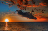 beautiful vibrant sunset poster