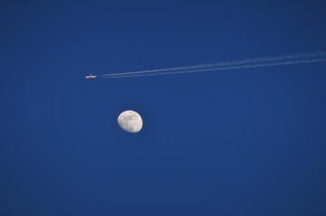 Contrail & Moon