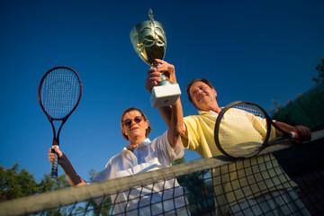 Active senior couple win