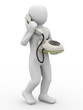 3d person with telephone