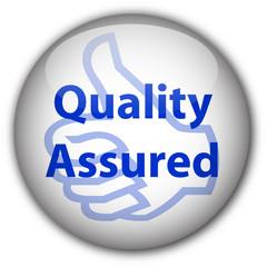 """Quality Assured"" stamp (blue)"