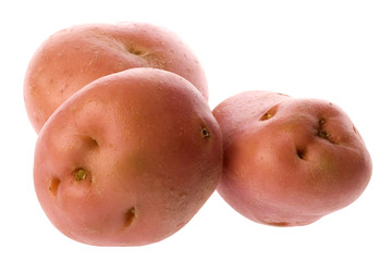 Pink Potatoes Isolated