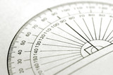 printed protractor for geometry measurement poster