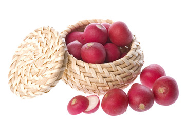 Red Radish in Basket