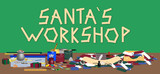 illustration of Santas workshop poster
