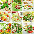 roleta: Healthy salads collage