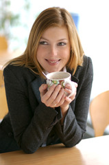 Woman with a cup
