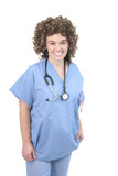 fuzzy haired woman doctor poster
