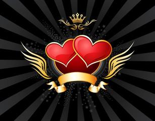 Two Hearts Insignia