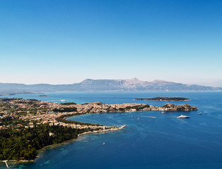 Corfu city, Greece, aerial view