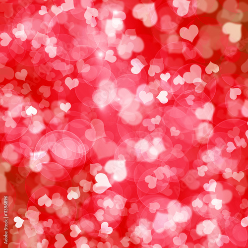 Naklejka walentynki, serce czerwony drobny wzór