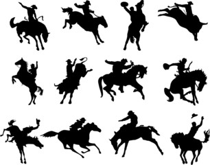 illustration of rodeo cowboys