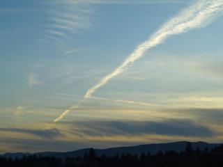 Jet Stream at sunset