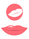 Mouth/lips pictogram poster